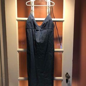 JCrew long denim dress Size S